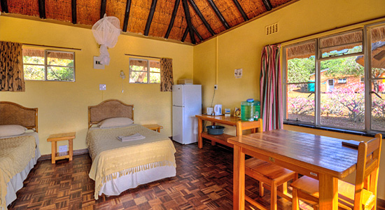 2 bed Rest Huts Mkhuze Game Reserve Mantuma Camp Self Catering Accommodation